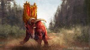 Planet Ark  Pentaceratops Speed Paint