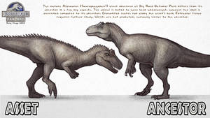 Asset vs. Ancestor: Allosaurus