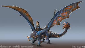 Ankylosaurus-Inspired Dragon Character Commission