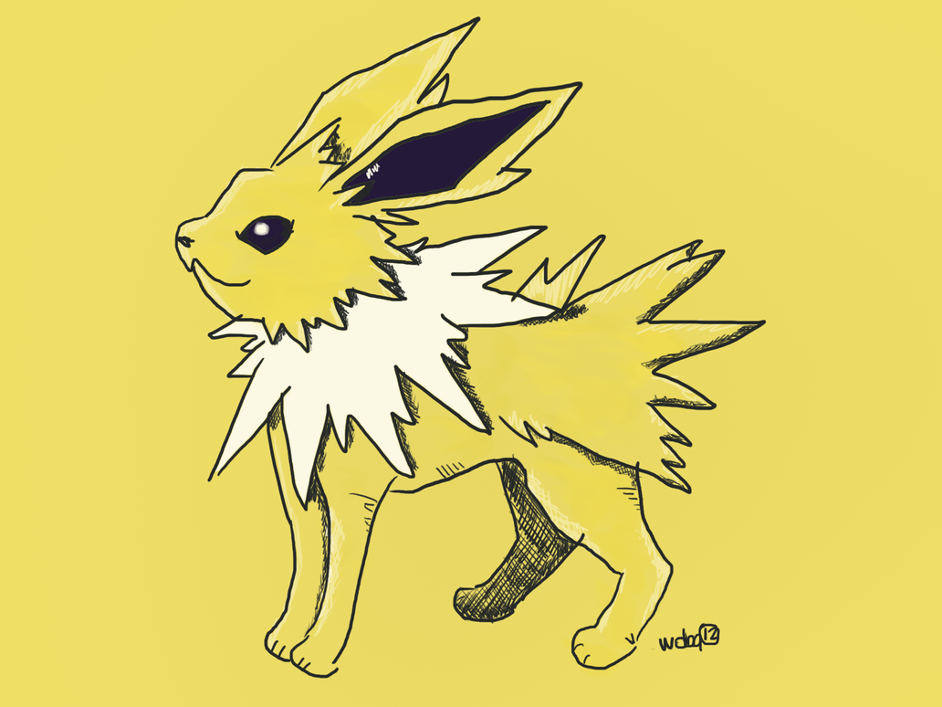 Noble Jolteon by wolfblitzer