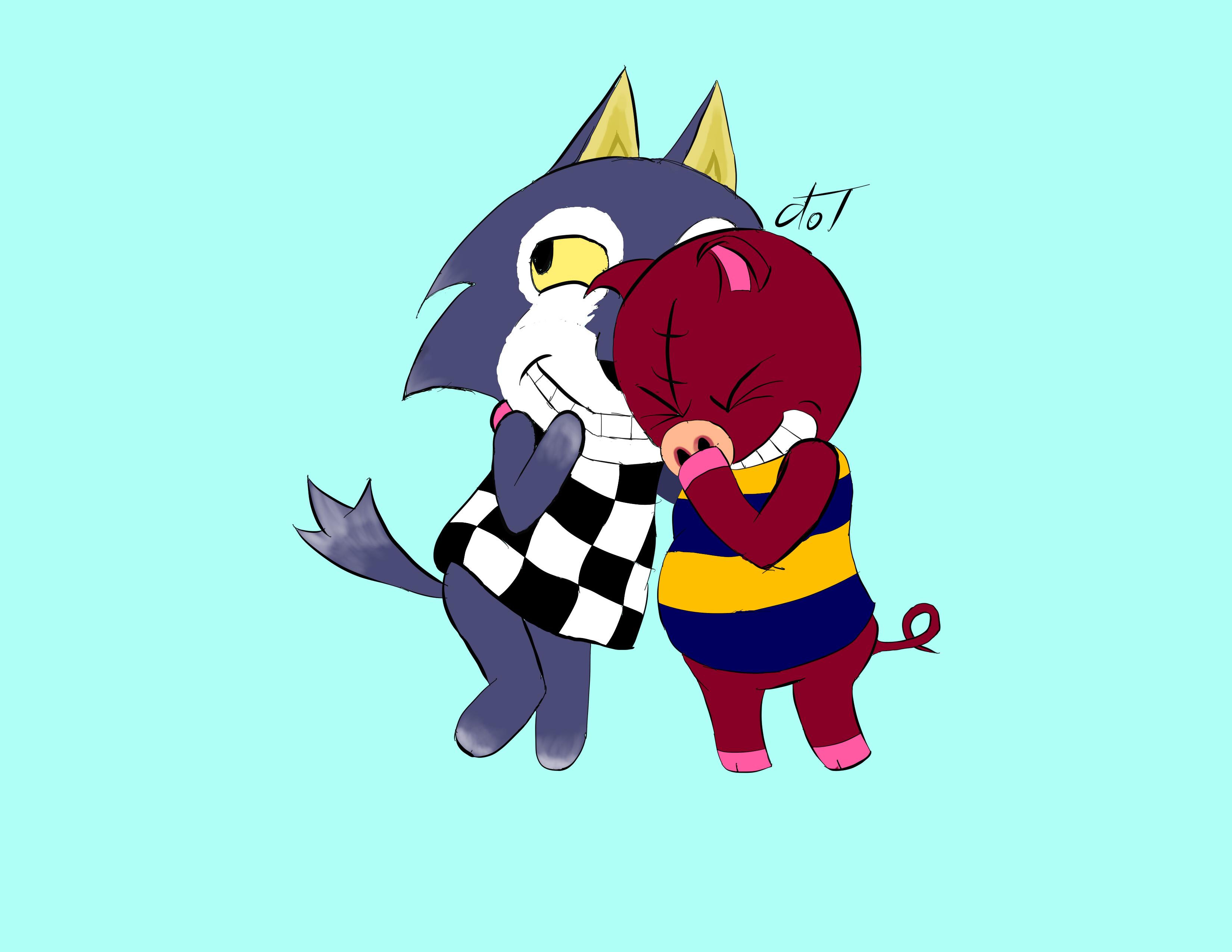Lobo and Rasher by dramateen01
