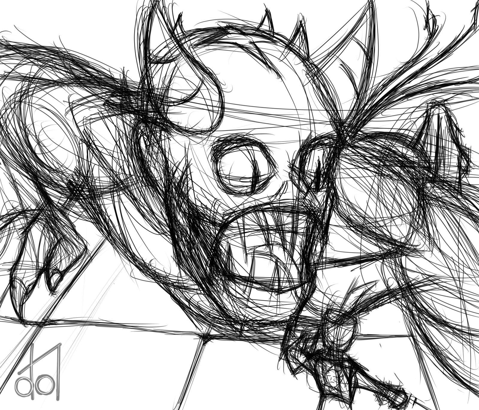 Crawling Demon Sketch by dramateen01