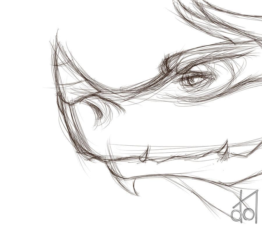 Dragon Head Sketch by dramateen01