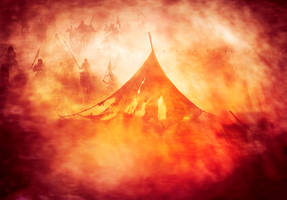 The tents of Hussein on Ashura by alidelphi