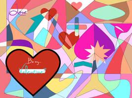 Valentine Mosaic Card by MadWhovianWithABox