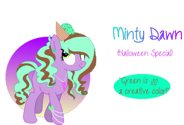 Minty Dawn- Icecream Special Pone Adopt|OPEN by MadWhovianWithABox