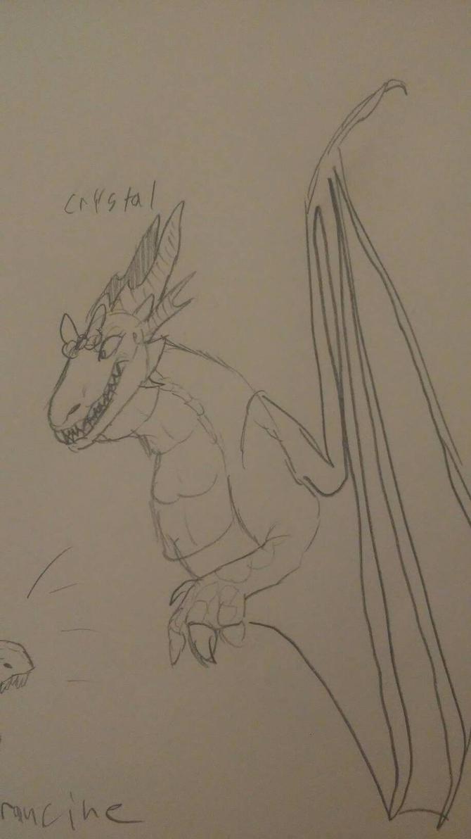Crystal dragon by fnaflvr247