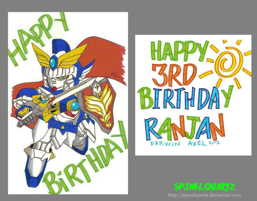 Sd Gundam Birthday Card By Spinelquartz On Deviantart