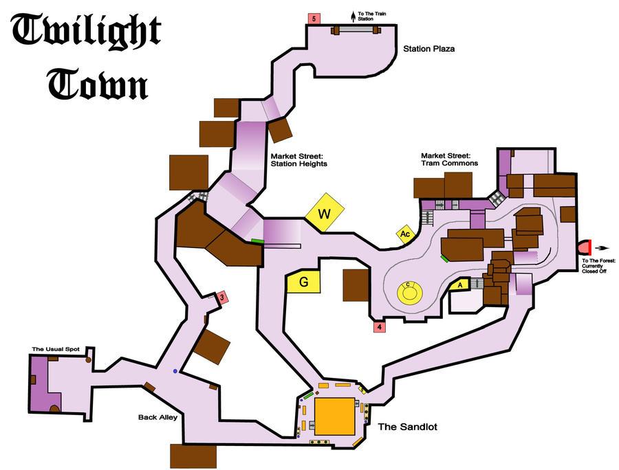 [Villa Crepúsculo] Carrera contra el tiempo [Sam] Twilight_town_map_1_by_axedya-d2xifuv