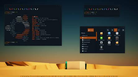 My solarized desktop by irenegr