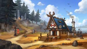 Viking blacksmith house. Part 1. The day