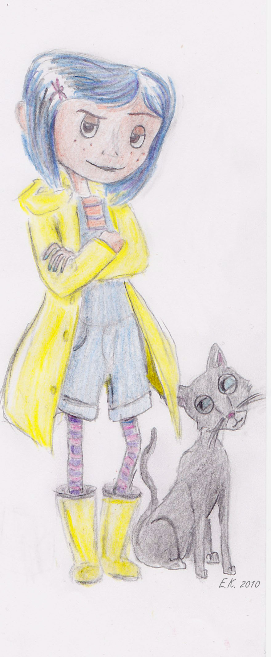Coraline and the cat by ElisabethThe3rd on DeviantArt