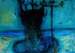 'neptune' 90cmx70cm Acrylics And Pastels On Pasteb