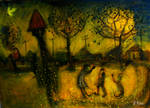 'mother And Children At The Park' 90cmx70cm11