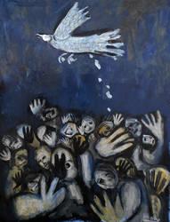 'the Bird'..70cmx90cm..2222 by glenox66