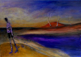 'after Swimming In Purple Lake'  90cmx70cm Acrylic by glenox66