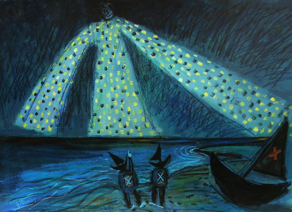 'calm Seas For The Fishermen'  90cmx70cm by glenox66