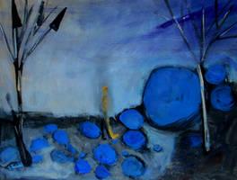 'blue Rock' 90cmx70cm by glenox66