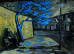 'blue Tree For Ever' 90cmx70cm