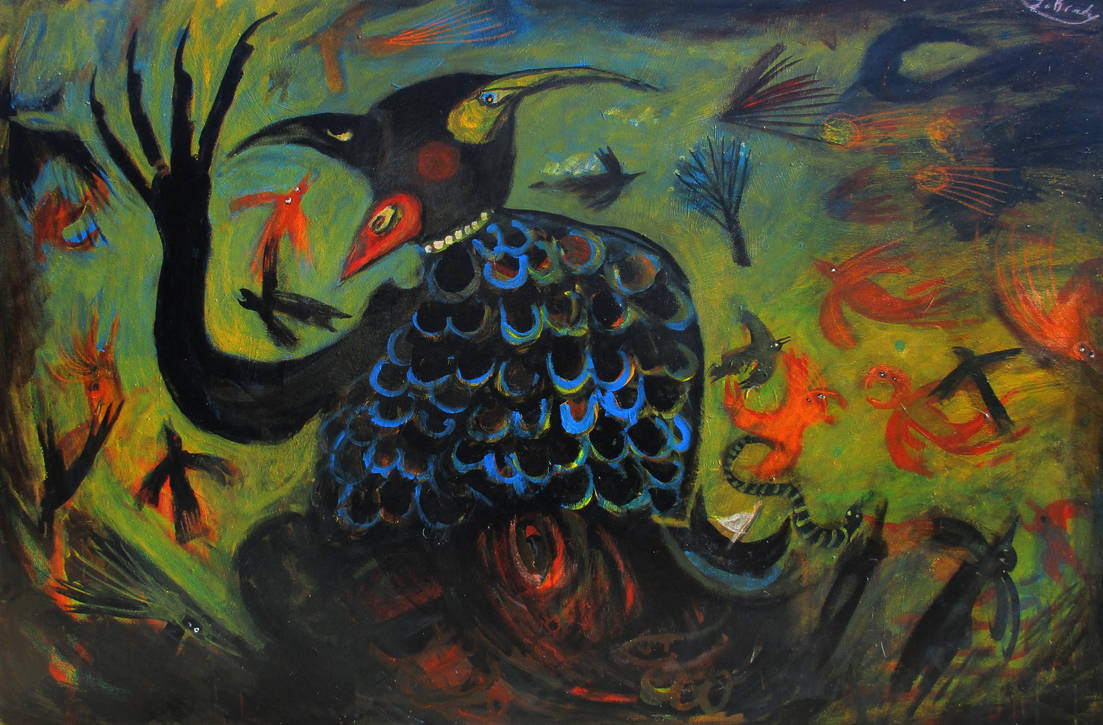'mother Of Birds' 150cmx100cm by glenox66