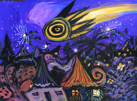 'shooting Star'  90cmx70cm