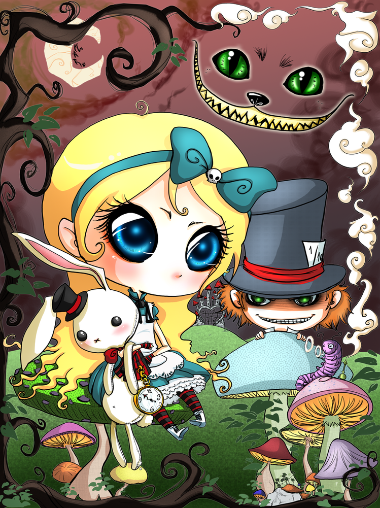 Alice in Wonderland by sashkaos on DeviantArt