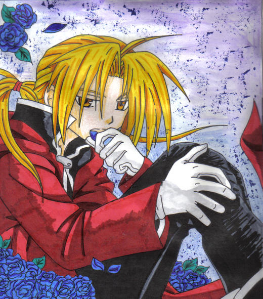 Edward and Flowers by kurumi-elric