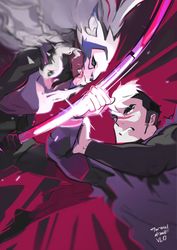 Shiro vs Allura by Taracel
