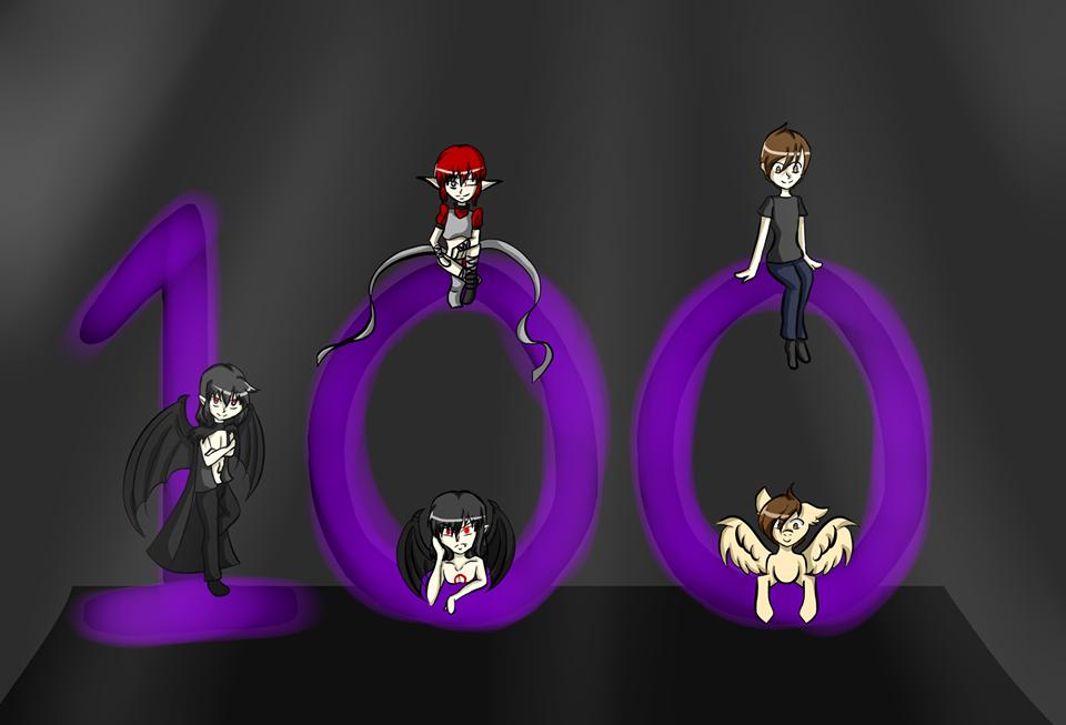 100 Watchers!!!! by DrDark7