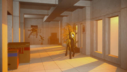 (SFM) Bughorse in a Hallway by Captain-Latrios