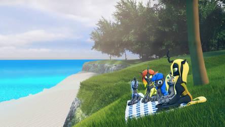 (SFM ) Bugs by the Beach by Captain-Latrios