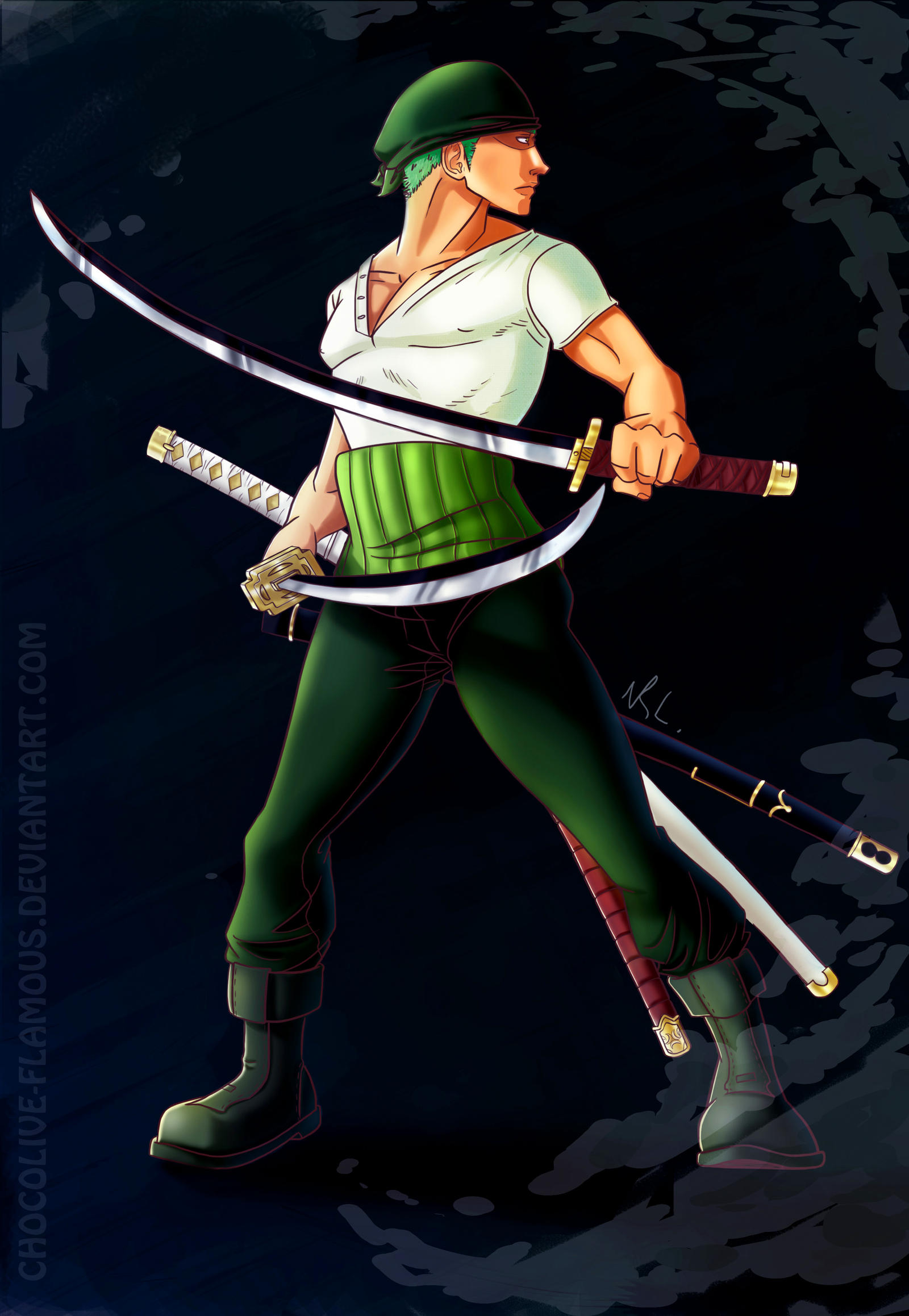 OP: Roronoa Zoro by ChocOlive-Flamous