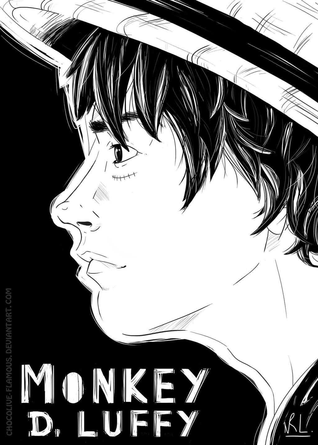 OP : Portrait - Monkey D. Luffy by ChocOlive-Flamous