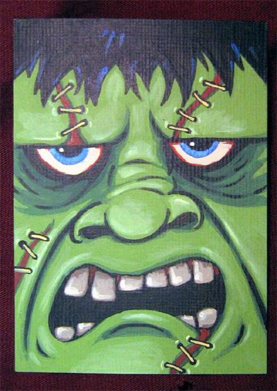 Frankenstein ATC by ReverendBonobo