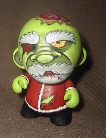 Zombie Santa Micro-Munny by ReverendBonobo