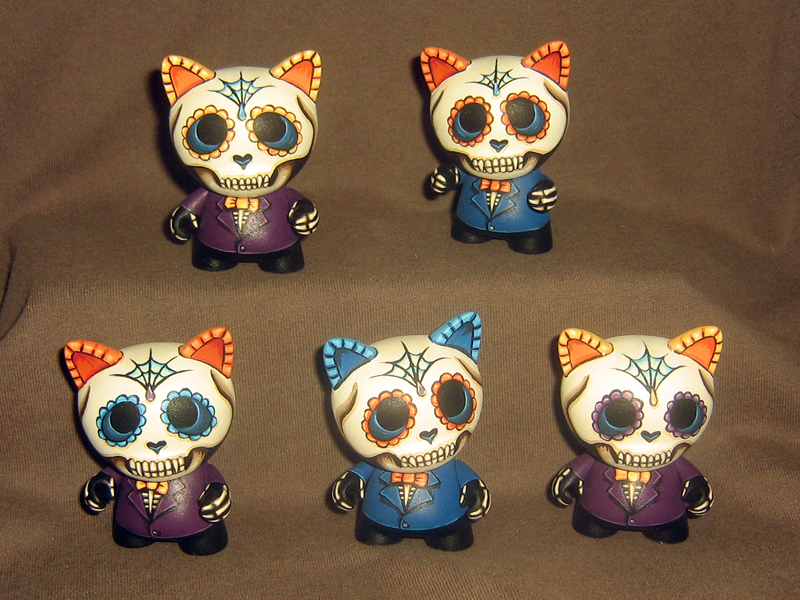 Day of the Dead Micro Trikkies - First Five by ReverendBonobo