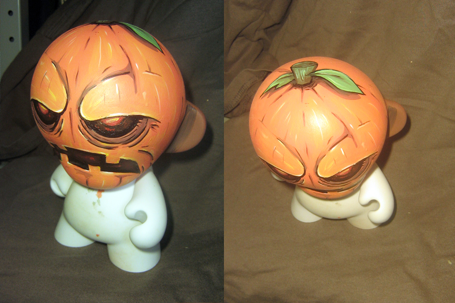 Pumpkin Munny by ReverendBonobo