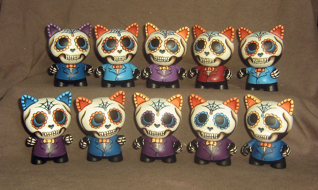 Day of the Dead Micro Trikkies (Refinished) by ReverendBonobo