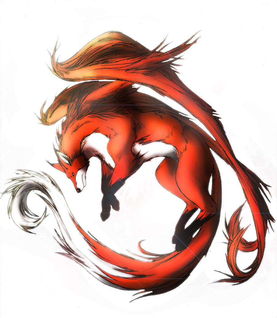 Red fox by clouds94 on deviantart for Cool fox drawings