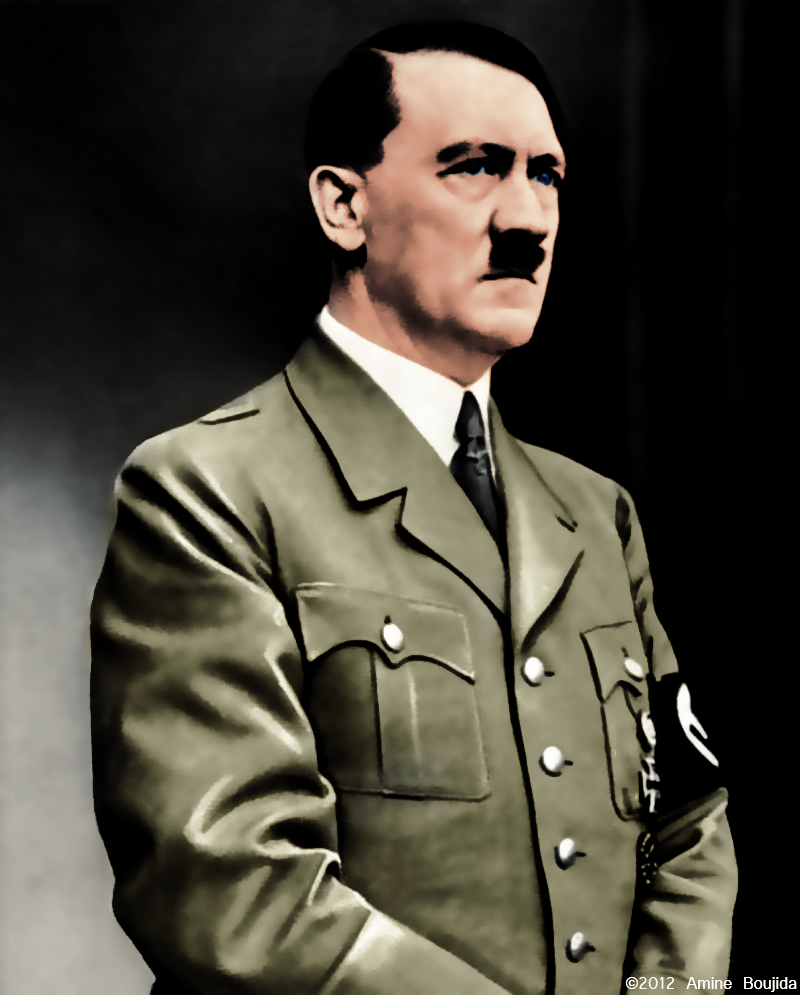 Color Adolf Hitler Portrait by Aminebjd