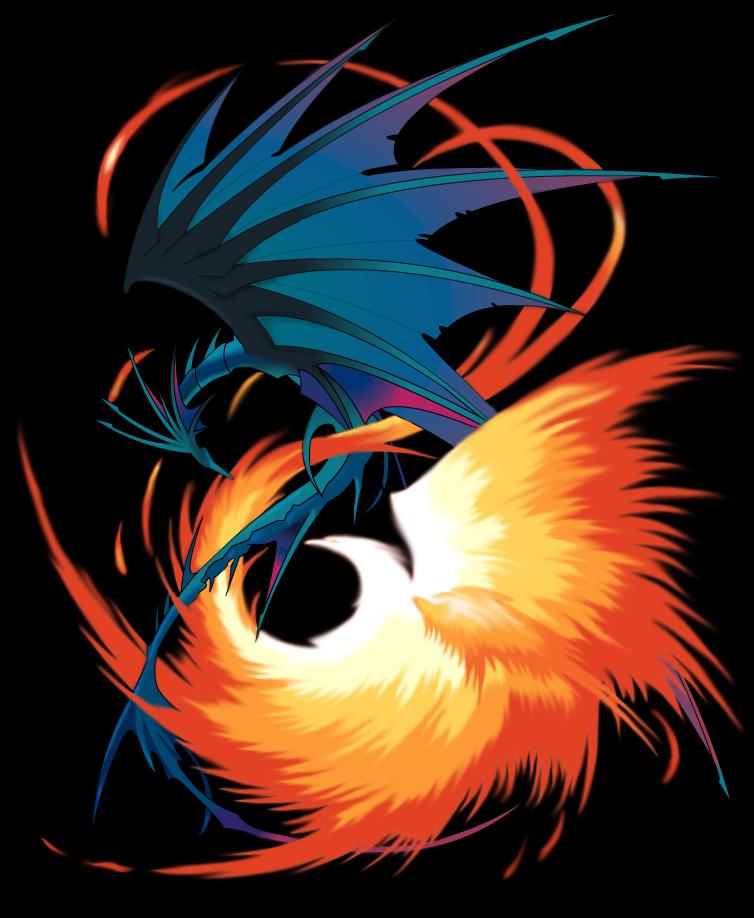 dragon and fenix by Brockleon