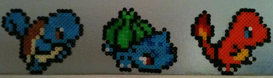 Water/Grass/Fire Pokemon Kanto Starters - -SALE- by BarrowmanFan