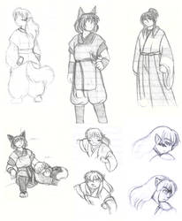 Memoirs sketchdump by Hanyou-no-miko