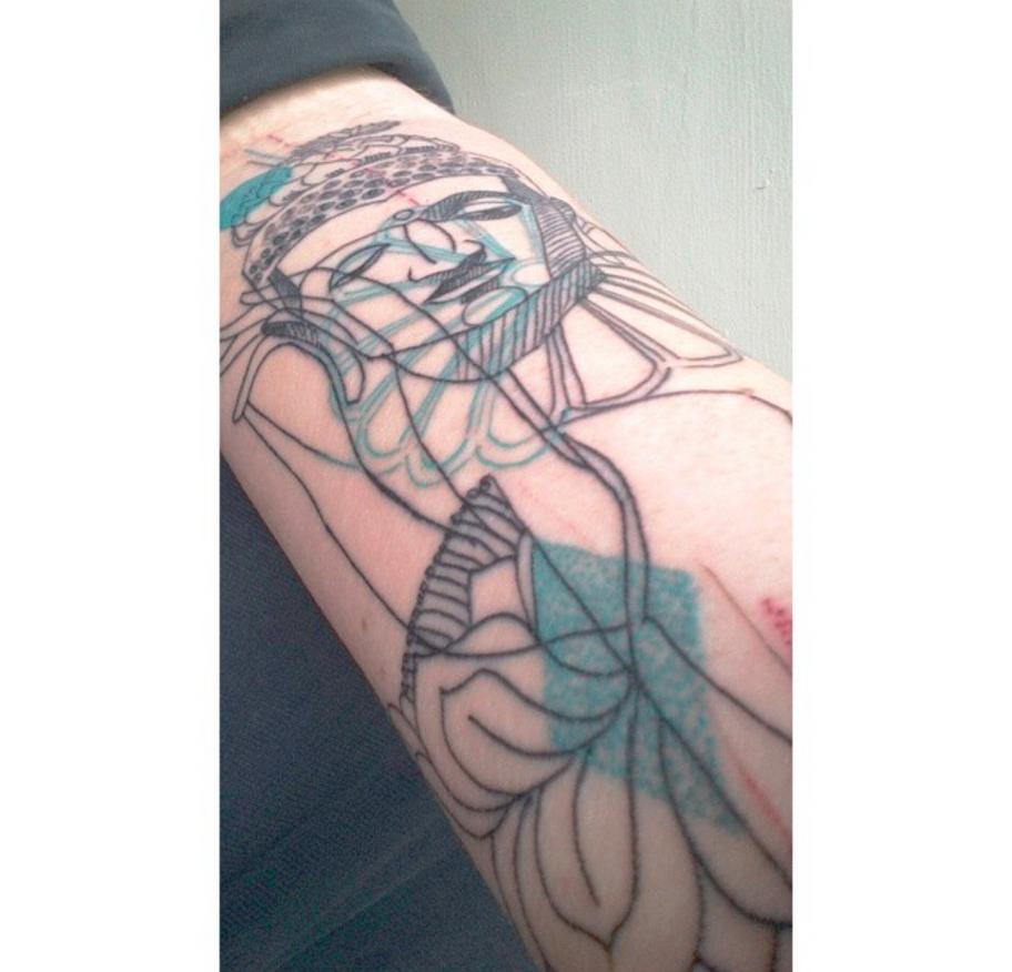 Buddha Tattoo by Sebyy
