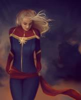Captain Marvel by duhrou