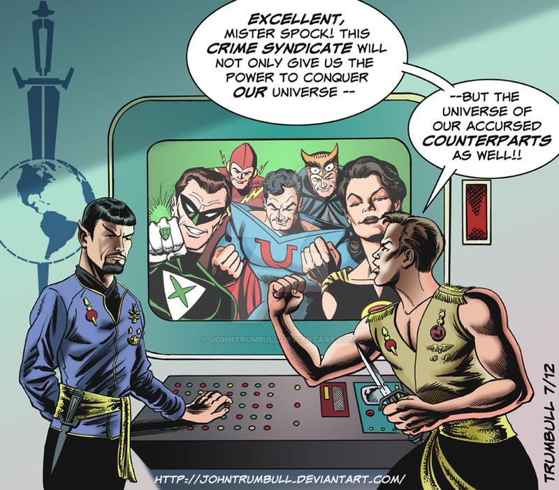 LIID 98: Star Trek/comic book Evil Universe mashup by johntrumbull