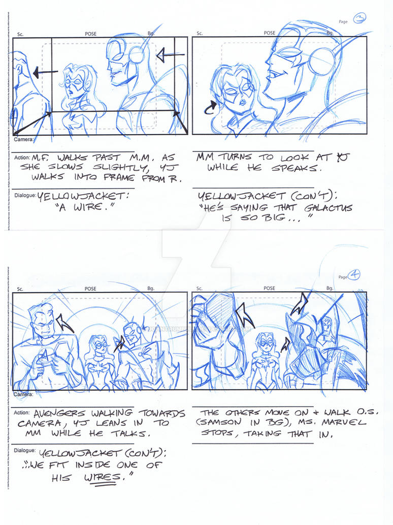 Avengers Storyboards, Pgs 03-04 by johntrumbull