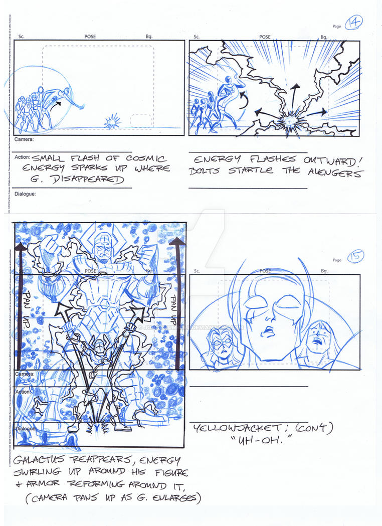 Avengers Storyboards, Pgs 14-15 by johntrumbull