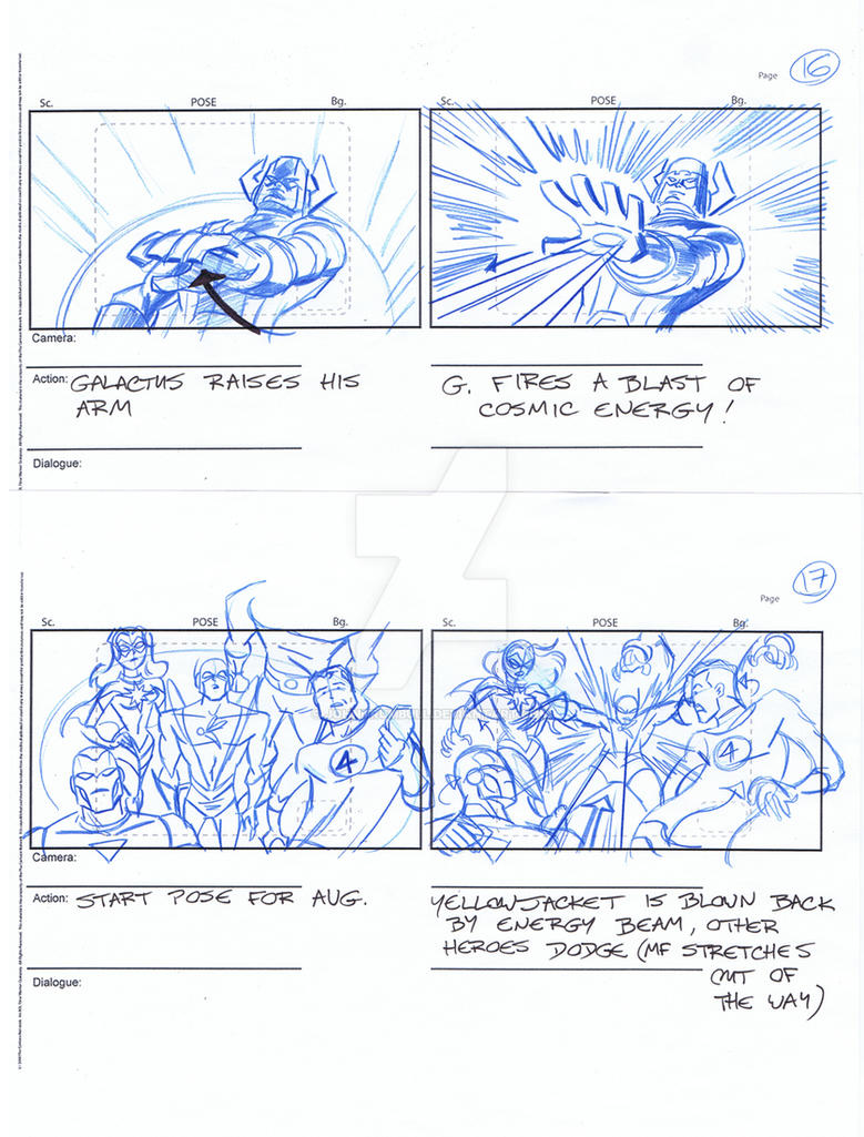 Avengers Storyboards, Pgs 16-17 by johntrumbull