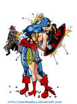 LIID 126: Captain America and Wonder Woman! by johntrumbull